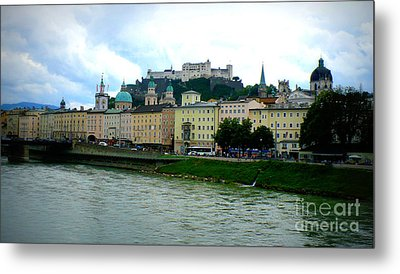 Salzburg Over The Danube Metal Print by Carol Groenen
