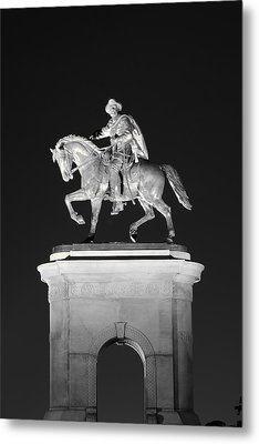 Sam Houston - Black And White Metal Print