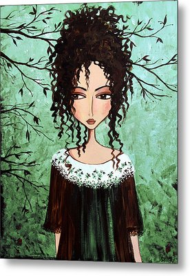 Samantha's Chocolate Tree Metal Print by Debbie Horton