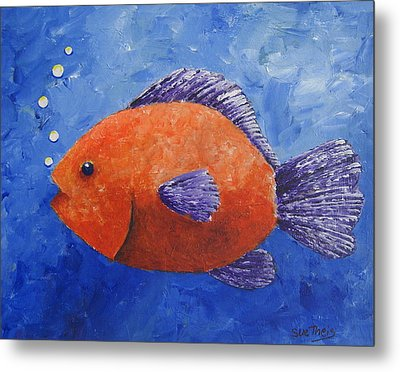Metal Print featuring the painting Sammy by Suzanne Theis