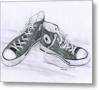 Sam's Shoes Metal Print by Mary Tuomi