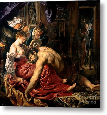 Samson And Delilah Metal Print by Peter Paul Rubens
