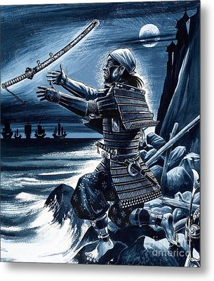 Samurai Warrior Metal Print