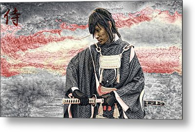 Samurai Warrior Metal Print by Ian Gledhill