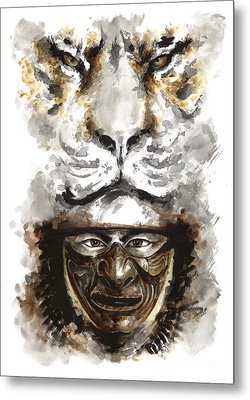 Samurai - Warrior Soul. Metal Print