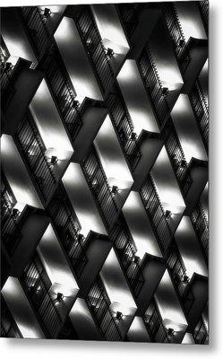 San Antonio At Night Metal Print by Eduard Moldoveanu