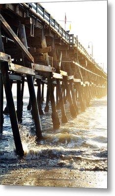 Metal Print featuring the photograph San Clemente Pier Magic Hour by Kyle Hanson
