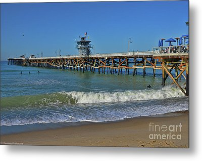San Clemente Pier Metal Print by Tommy Anderson