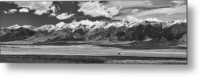 San De Cristo Mountains Panorama In Black And White Metal Print by James BO Insogna