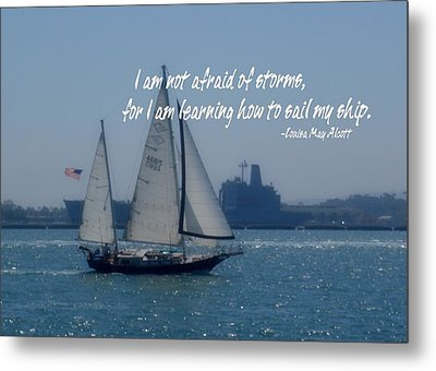 San Diego Bay Quote Metal Print