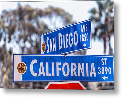 San Diego Crossing Over California Metal Print by Joseph S Giacalone