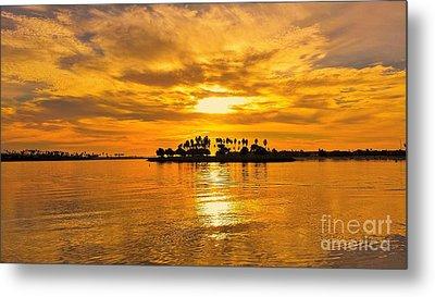San Diego Golden Sky By Jasna Gopic Metal Print