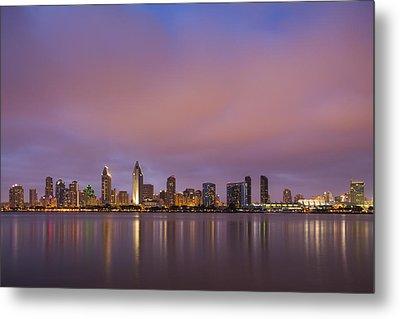 San Diego Skyline Metal Print by Adam Romanowicz