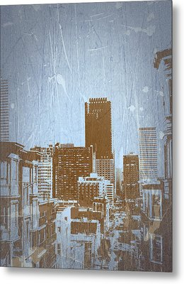 San Francisco 2 Metal Print by Naxart Studio