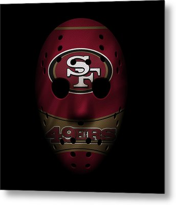 San Francisco 49ers War Mask Metal Print