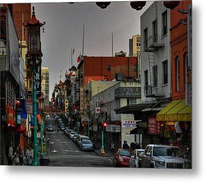 San Francisco - Chinatown 001 Metal Print by Lance Vaughn