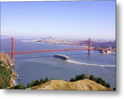 Metal Print featuring the photograph San Francisco - City By The Bay by Art Block Collections