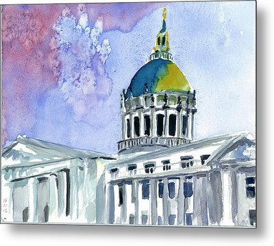 San Francisco City Hall Metal Print by Tom Simmons