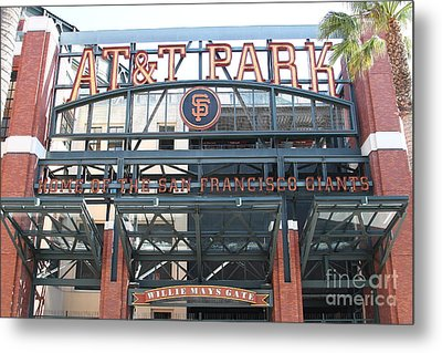 San Francisco Giants Att Park Willie Mays Entrance . 7d7635 Metal Print by Wingsdomain Art and Photography