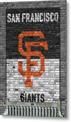 San Francisco Giants Brick Wall Metal Print