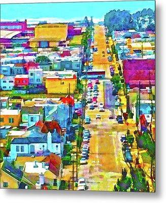 San Francisco Quintara View Metal Print
