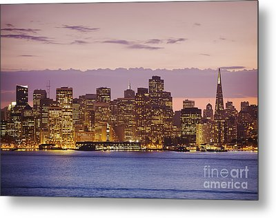 San Francisco Skyline Metal Print by Bryan Mullennix