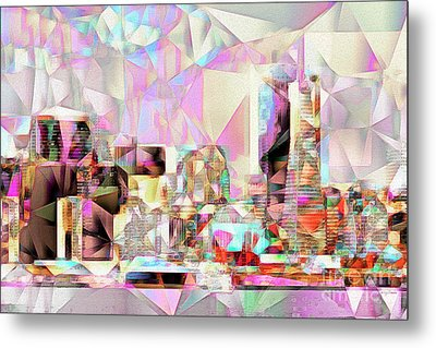 Metal Print featuring the photograph San Francisco Skyline In Abstract Cubism Eos 5d29399 20170326 by Wingsdomain Art and Photography