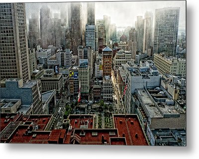 San Francisco Skyline Metal Print by Susan Stone