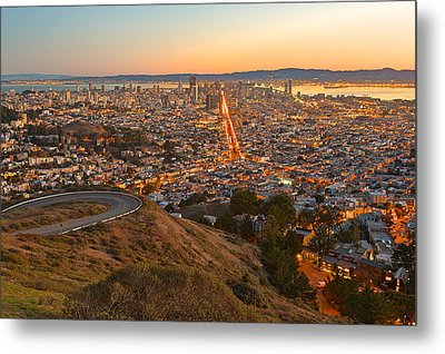 San Francisco Sunrise Metal Print by Nicolas Raymond