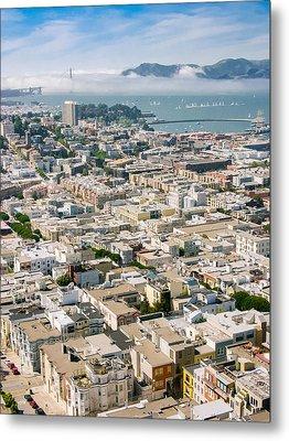 San Francisco Vista Metal Print
