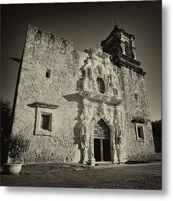Metal Print featuring the photograph San Jose Mission - San Antonio by Stephen Stookey