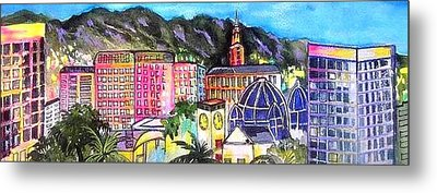 San Jose Skyline Metal Print