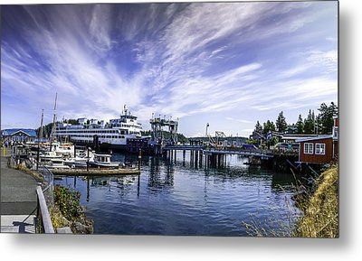 San Juan Island Ferry Metal Print by Gordon Engebretson