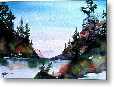 Metal Print featuring the painting San Juan Island by Marti Green