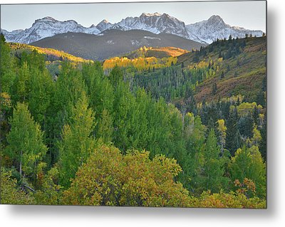 Metal Print featuring the photograph San Juan Mountain Sunset by Ray Mathis
