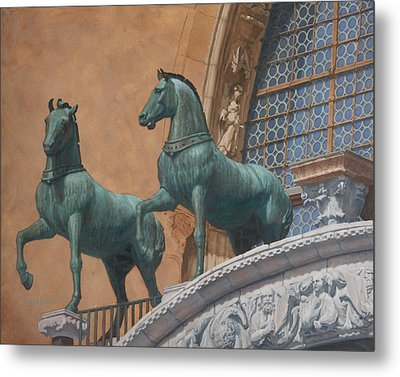 San Marco Horses Metal Print by Swann Smith