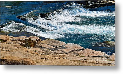 San Marcos River Waterfall  Metal Print by Ray Shrewsberry
