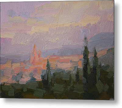 San Miguel Cathedral Sunrise Metal Print by Kathryn Townsend