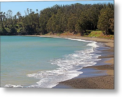Metal Print featuring the photograph San Simeon Cove by Art Block Collections