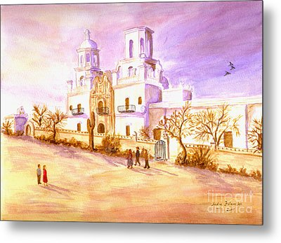 Metal Print featuring the painting San Xavier by Judy Filarecki