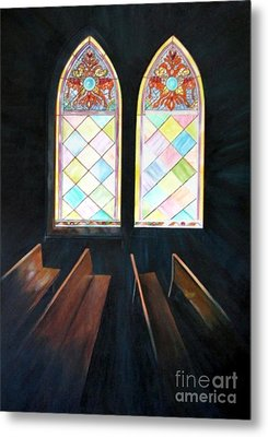 Metal Print featuring the painting Sanctuary by Anna-Maria Dickinson