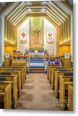 Metal Print featuring the photograph Sanctuary At Easter by Nick Zelinsky