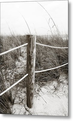 Sand And Grass Metal Print by Julie Palencia