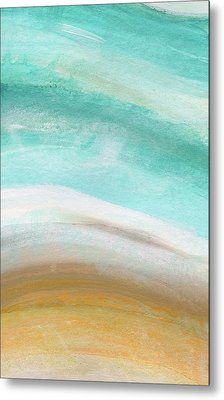 Sand And Saltwater- Abstract Art By Linda Woods Metal Print by Linda Woods
