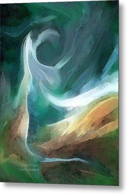 Sand And Sea Metal Print by Carol Cavalaris