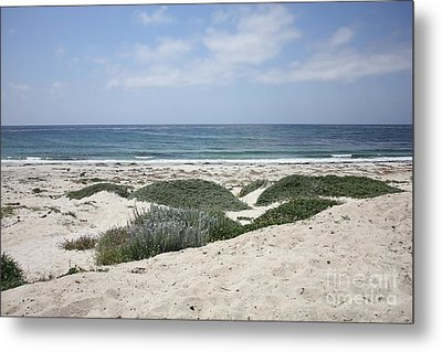 Sand And Sea Metal Print by Carol Groenen