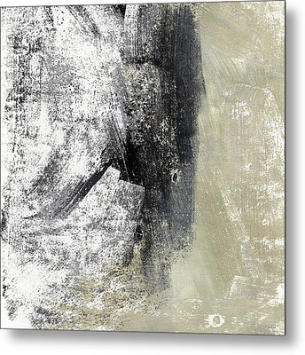 Sand And Steel- Abstract Art Metal Print by Linda Woods