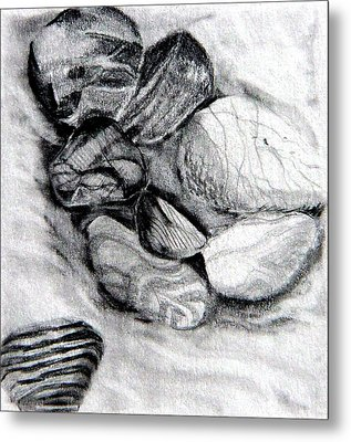 Sand And Stone Metal Print by Mindy Newman