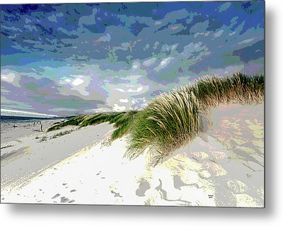Sand And Surfing Metal Print by Charles Shoup