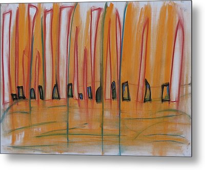 Metal Print featuring the pastel Sand Dance by Stefan Hermannsson